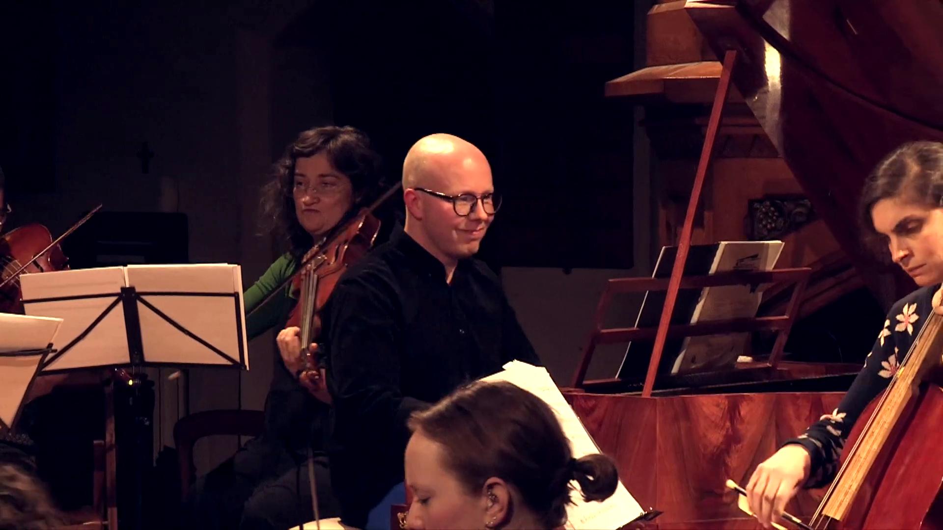 Pawel Siwczak plays Mozart concerto on the fortepiano